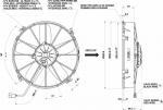 Вентилятор Spal VA01-BP70/LL-36A (305 мм) автомобильный