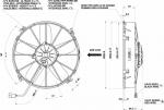 Вентилятор Spal VA01-BP70/LL-36S (305 мм) автомобильный