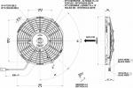 Вентилятор Spal VA11-AP7/C-29S (255 мм) автомобильный
