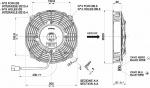 Вентилятор Spal VA14-BP7/C-34A (190 мм) автомобильный