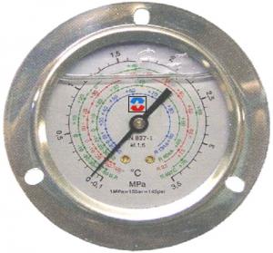 Манометр высок.давл. глицериновый фланцевый R134a/404a/22/407c