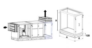 Блоки забора воздуха сверху (выхлопа вверх)