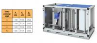 Секция А2 – фильтрование EU4 + водяной нагрев + вентиляция (выхлоп вверх)
