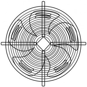 Осевой вентилятор YWF-4E-350
