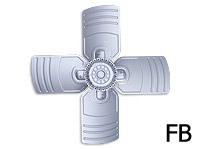Осевой вентилятор FB035-4EA.2C.A4P