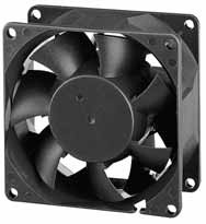 DC вентиляторы 80x80x38