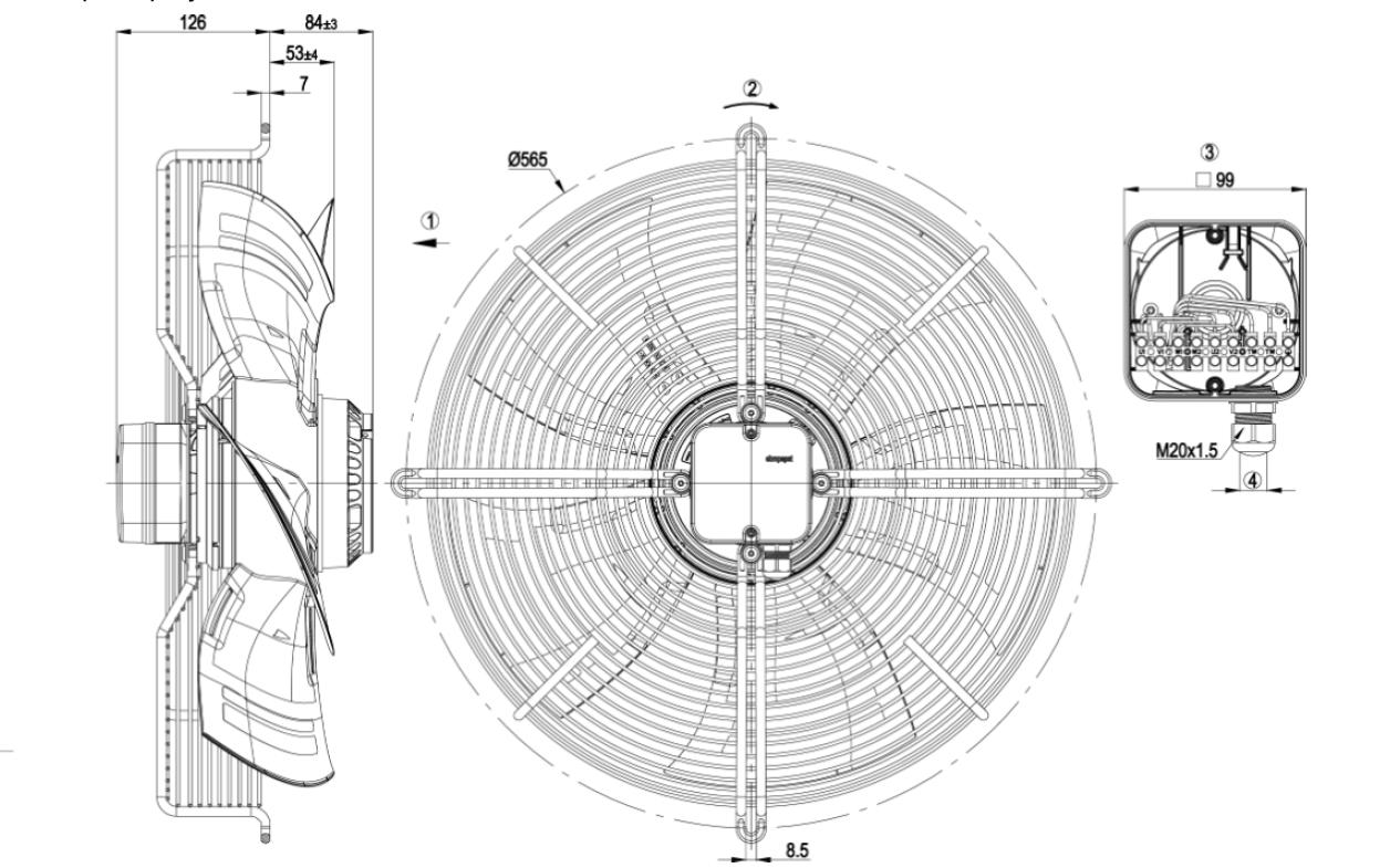 Чертеж вентилятора S4D500-AM03-01